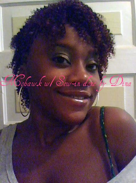 Mohawk w/ Sew-In done by Dina