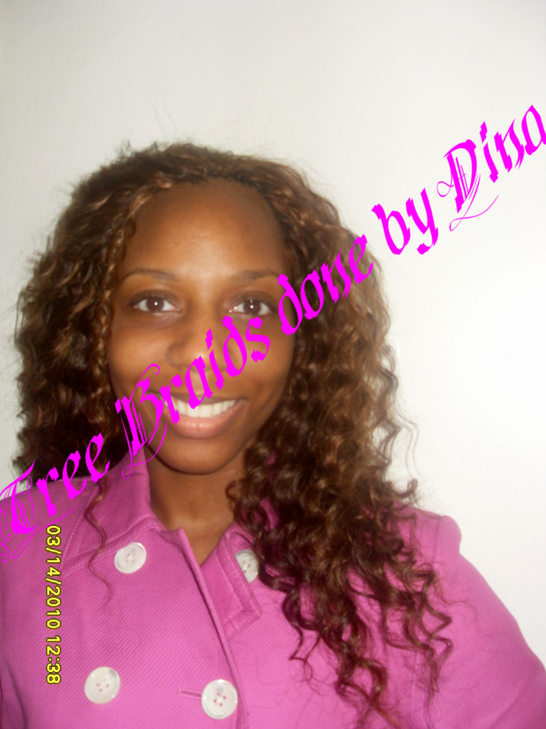 We used 2 packs of Milky Way Ripple Deep Wave hair. Color #4 & 30 ...