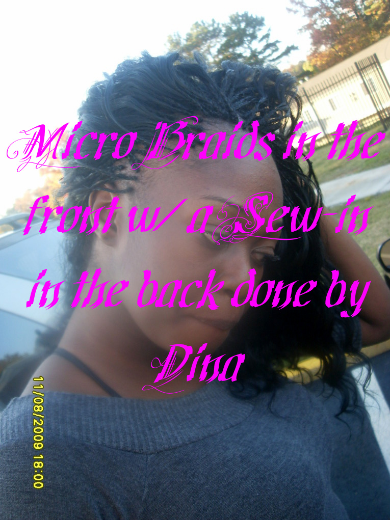 Micro Braids w/ Sew-in done by Dina - Dina Professional African Hair ...
