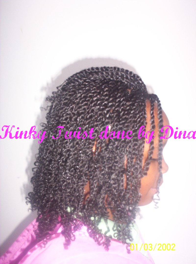 Kinky twist done by Dina